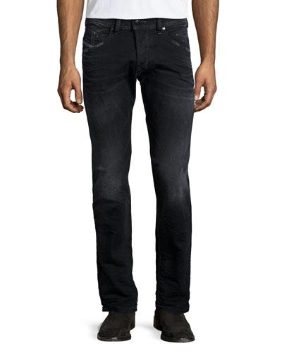 Belthar 666Q Straight-Leg Jeans, Gray