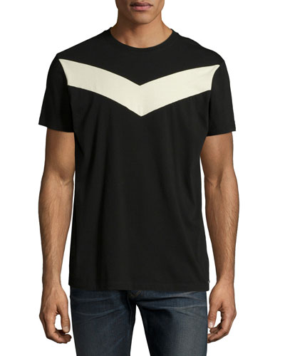 Digital-Print Short-Sleeve Tee, Black