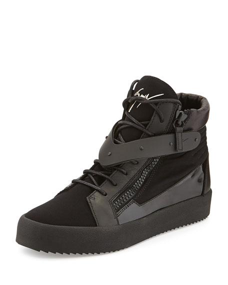 Giuseppe Zanotti Men's Paneled High-Top Sneaker