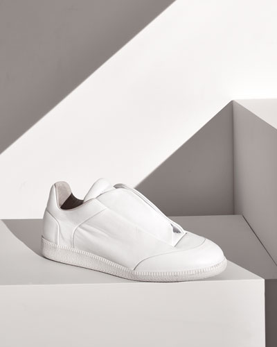 MAISON MARTIN MARGIELA Future Calfskin Low-Top Sneaker, White