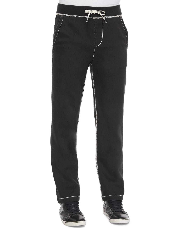898292062 True Religion Contrast-Stitch Knit Sweatpants