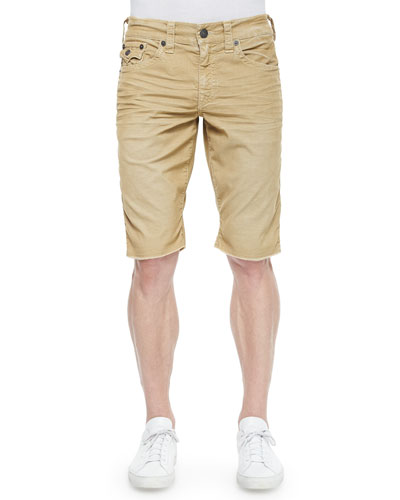 Ricky Woven Cord Shorts, Straw