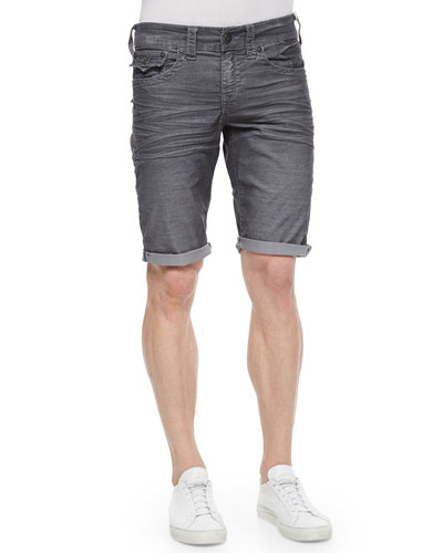 Ricky Five-Pocket Cord Shorts, Iron