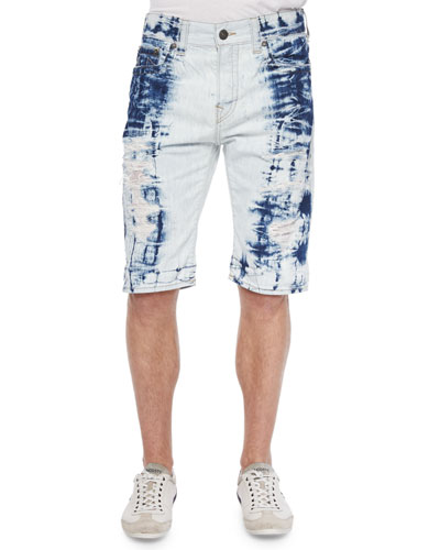 Dean Tie-Dye Distressed Shorts