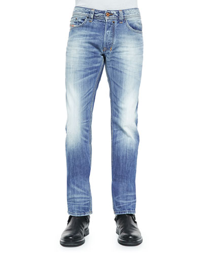 Safado 816P Faded Denim Jeans, Indigo