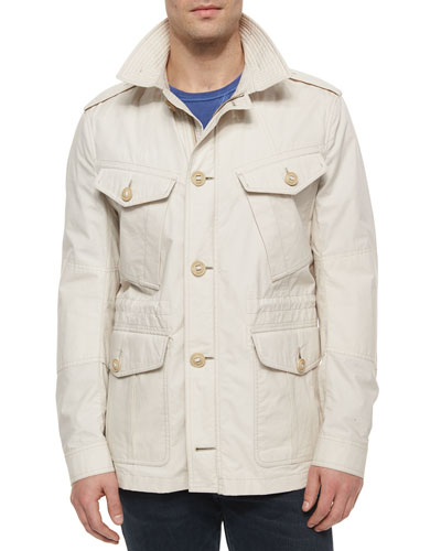 Fulforth Cotton Field Jacket, Light Stone