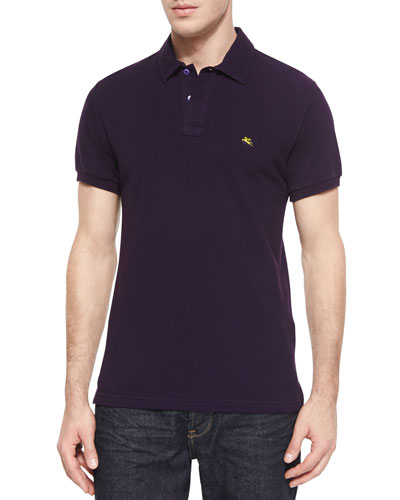 d427fb9e798f6 Etro Short-Sleeve Pique Polo Shirt, Purple Order Now - AntoniaGibbs ...