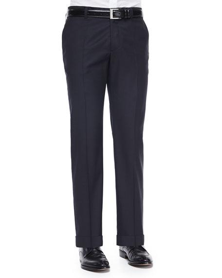 Etro Pin Dot Jacquard Evening Pants, Black
