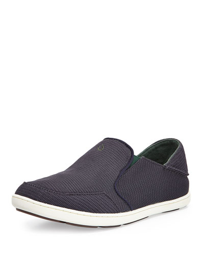 Nohea Mesh Slip-On/Fold-Back Sneaker, Carbon