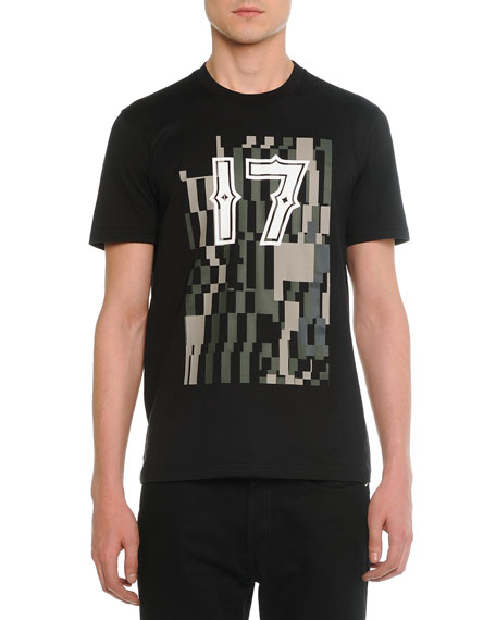 givenchy short sleeve tee with 17 camo print graphic black neiman marcus. Black Bedroom Furniture Sets. Home Design Ideas