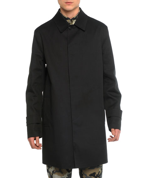 Givenchy Mac Leather Trench Coat, Black