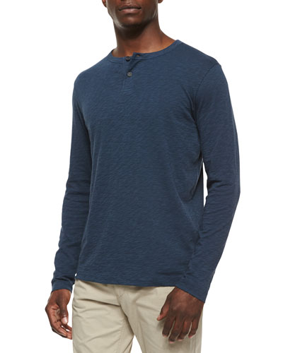 Gaskell Hl Long-Sleeve Henley Tee, Royal