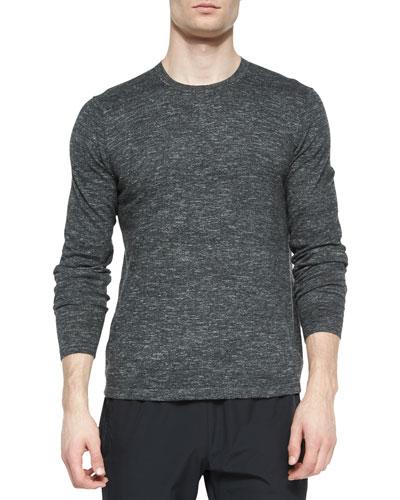 Andre Crewneck Sweater, Silver