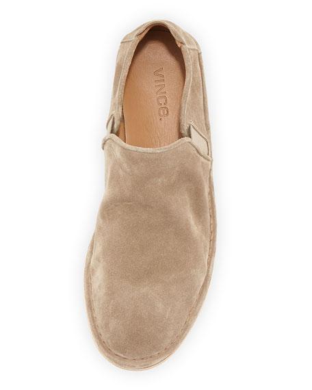 vince nico suede slip on shoe light brown