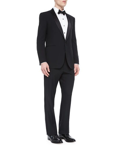 Basic Shawl-Collar Tuxedo, Black