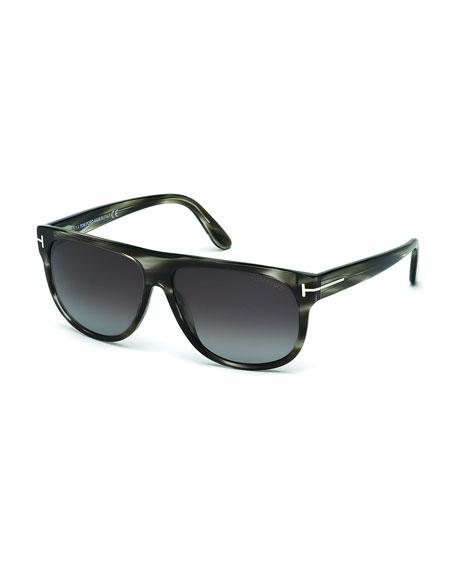 TOM FORD Kristen Polarized Square Sunglasses, Gray