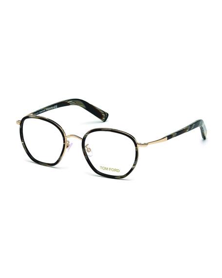 5fef8bee9e1e TOM FORD Acetate Metal Eyeglasses