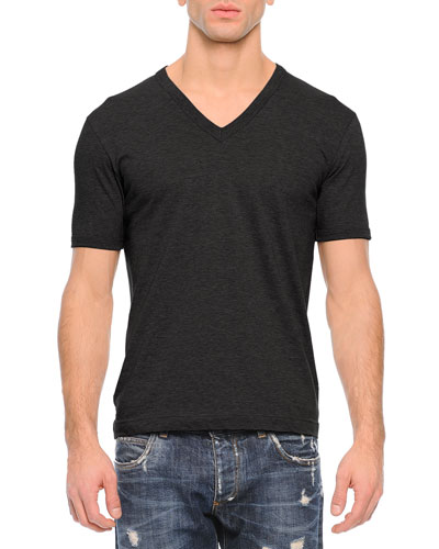 Basic V-Neck Tee, Black