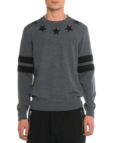 Crewneck Star Sweatshirt, Dark Gray