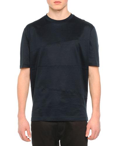 Knit Asymmetric Seam T-Shirt