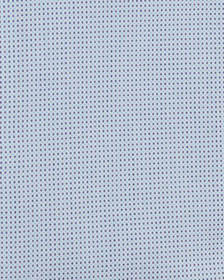 Eton Contemporary-Fit Micro-Dot Print Dress Shirt, Light Blue