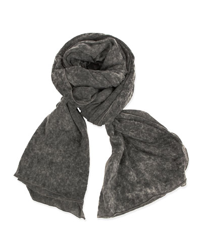 Textured Solid Scarf, Gray