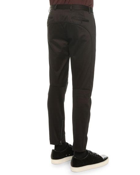 Stretch-Knit Cotton Biker Pants