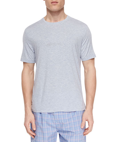 Ethan Cotton Short-Sleeve Tee, Blue