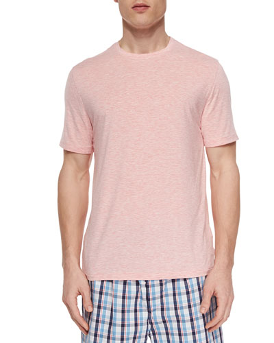 Ethan Jersey Short-Sleeve Tee, Coral