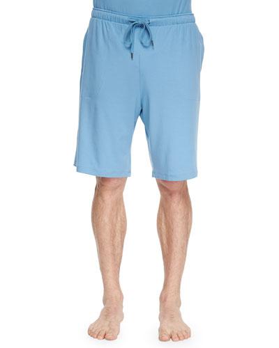 Basel Jersey Lounge Shorts, Aqua