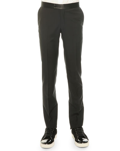 Attitude Wool Trousers, Black