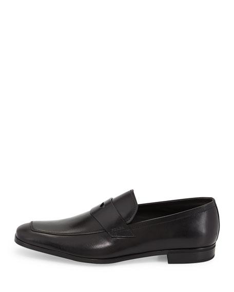 Leather Dress Penny Loafer, Black