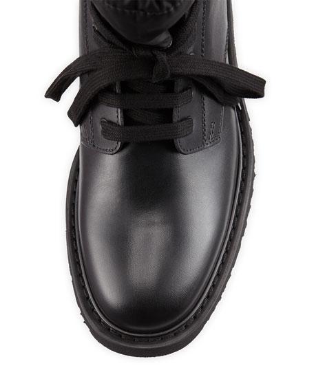 Leather Sock Boot w/ Toggle, Black