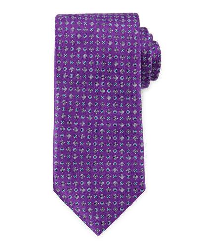 Circle and Cross Neat Tie, Purple