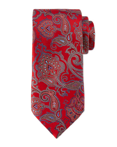 Allover Paisley Tie, Red