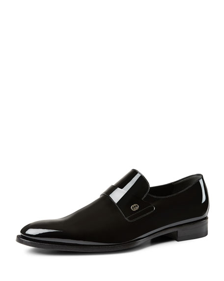 Gucci Patent Leather Loafer, Black