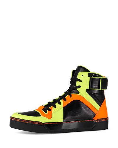 New Basketball High-Top, Neon/Black