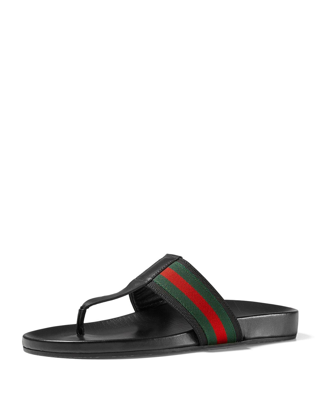 3c41011b8ecb Gucci Men s Web Strap Sandals
