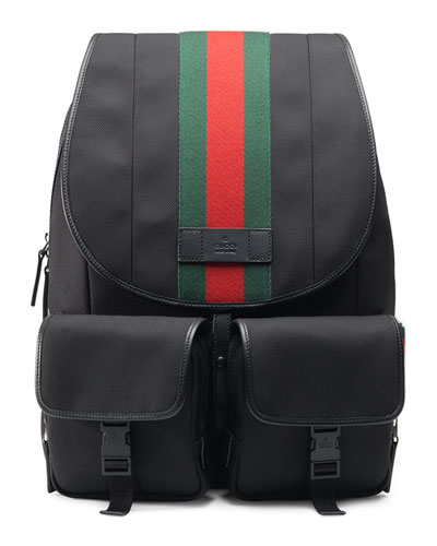 Web Canvas Backpack/Fanny Pack, Black