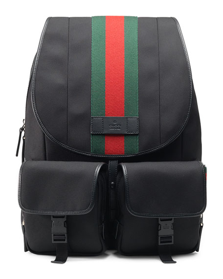 5c9c17179e4 Gucci Web Canvas Backpack Fanny Pack