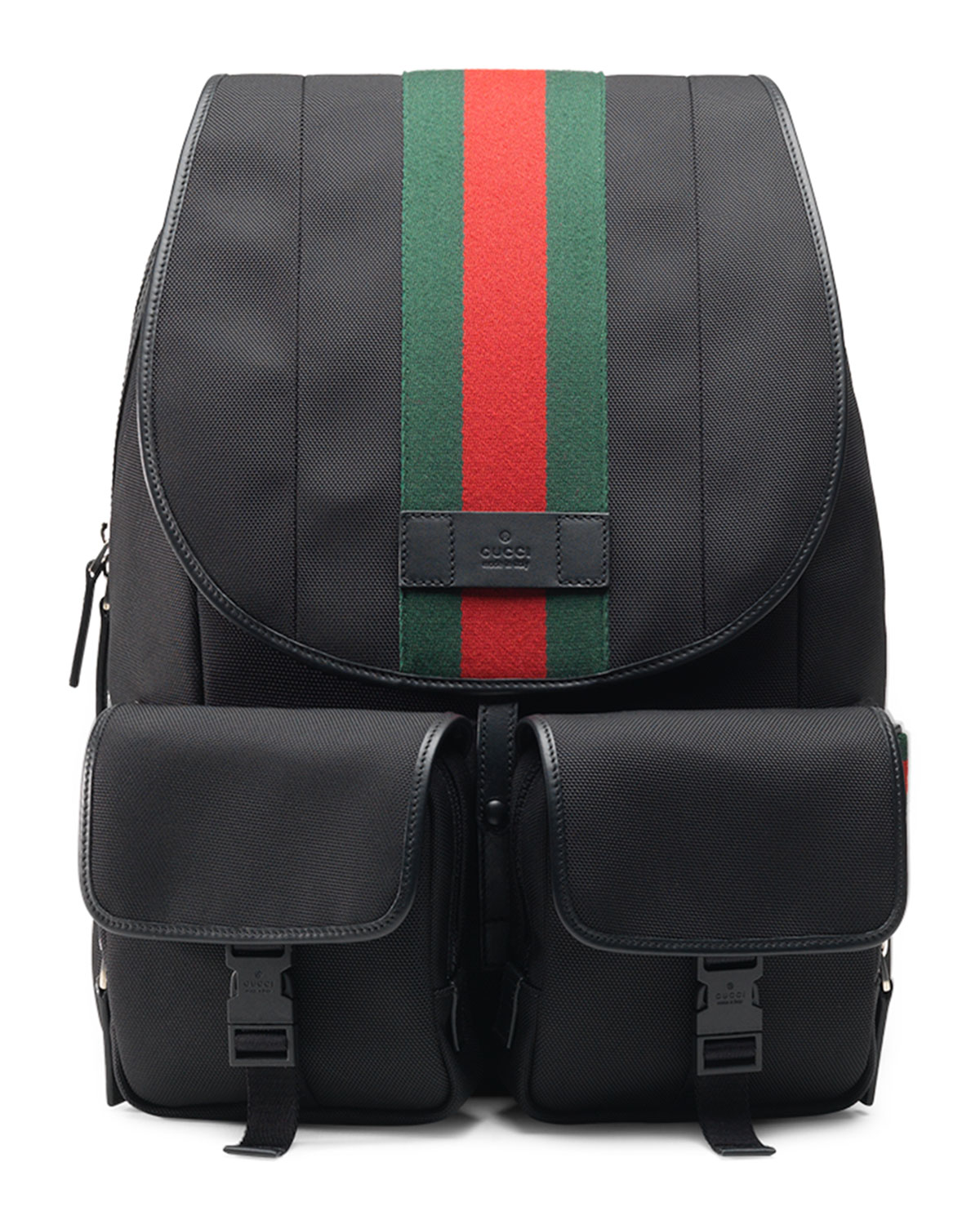 92672048681 Gucci Web Canvas Backpack Fanny Pack