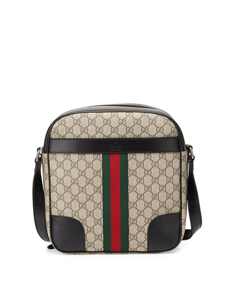 Gucci GG Canvas Messenger Flight Bag
