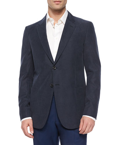 Solid Two-Button Blazer, Navy