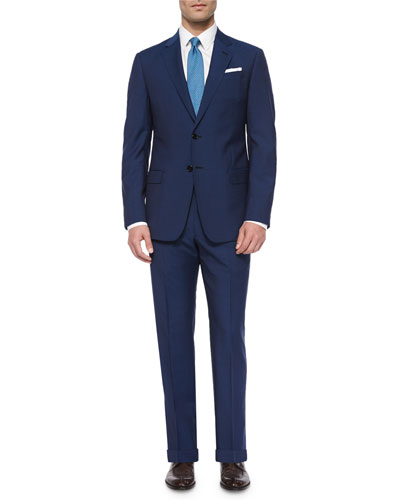 G-Line Solid Two-Piece Suit, Bright Blue