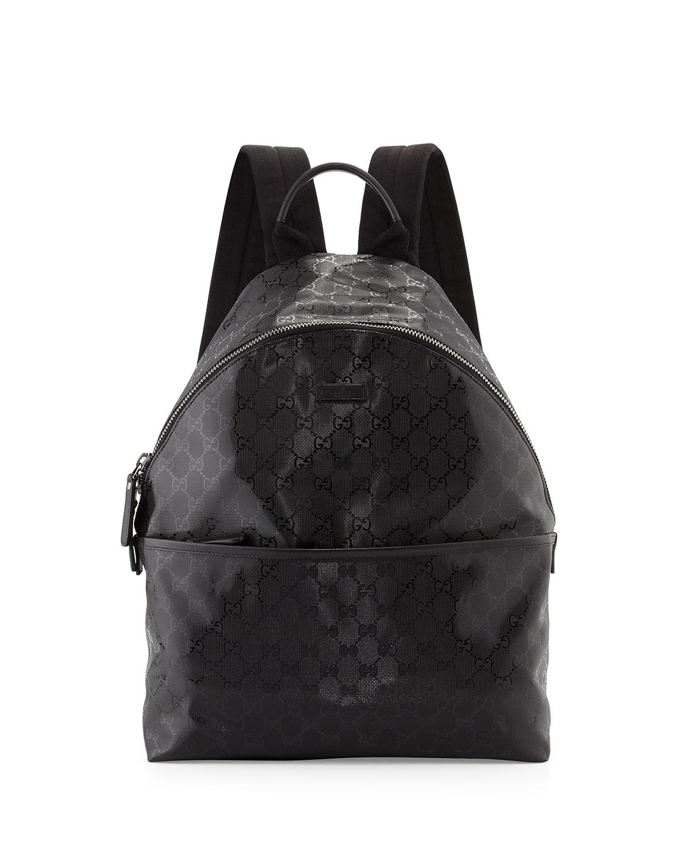 d25eb592b91f Gucci Men's GG Imprime Backpack, Black   Neiman Marcus
