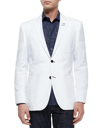 Pop 81 Pique Blazer, White