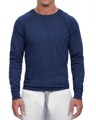 Active Core Woven Crewneck Sweatshirt, Blue