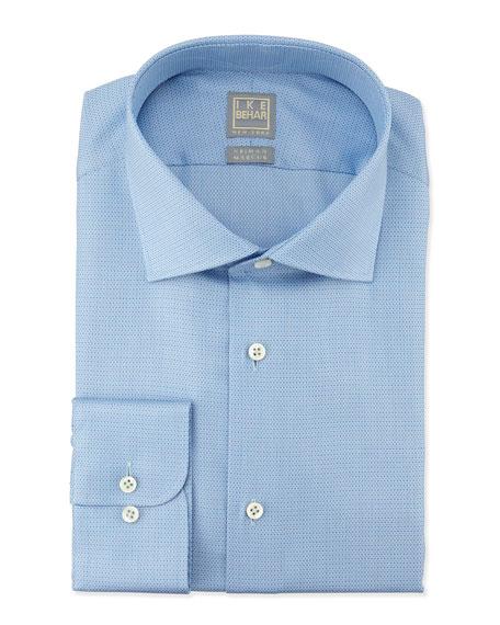 Ike Behar Textured Tonal Dress Shirt, Lake