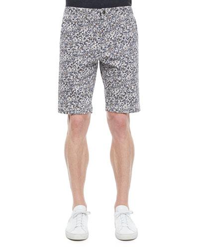 Tristen Allover Floral Print Shorts, Dark Gray