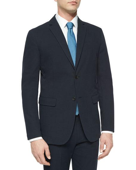 Theory Tobias Tonal Textured Sport Coat, Navy